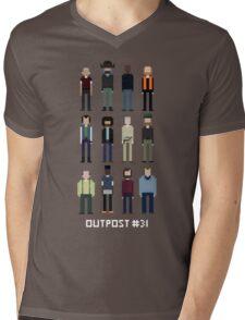Pixel Outpost 31 Crew Mens V-Neck T-Shirt