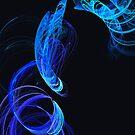 Blue swirls - iPhone case by Britta Döll