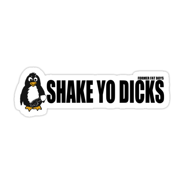 Shake Yo Dicks - Penguin - Black by formerfatboys