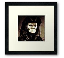 Spooky mask of Venetian tradition Framed Print