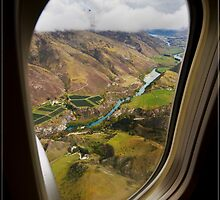 Approaching Queenstown NZ by Air 02 by Chris Cohen