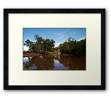 Outback Creek Framed Print