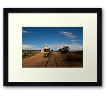 Abondoned Outback Train Station Framed Print