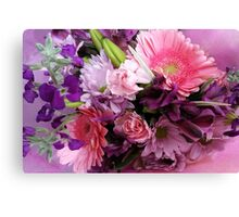 A Passion for Pink and Purple Canvas Print