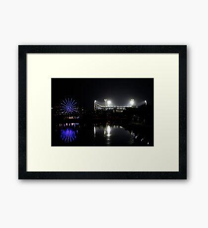 Ferris Wheel at the Night Game Framed Print