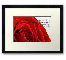 Valentines Rose Framed Print