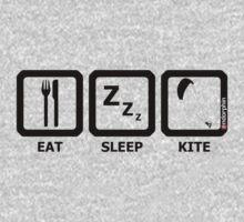 Eat Sleep Kite One Piece - Long Sleeve