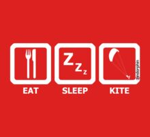 Eat Sleep Kite Kids Tee