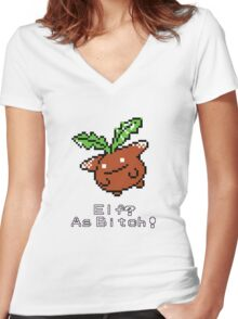 Elf? As Bitch! Women's Fitted V-Neck T-Shirt