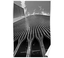Twin Towers (Monochrome) Poster