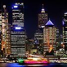 Circular Quay at Night - Sydney - Australia by Bryan Freeman