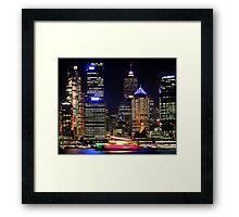 Circular Quay at Night - Sydney - Australia Framed Print