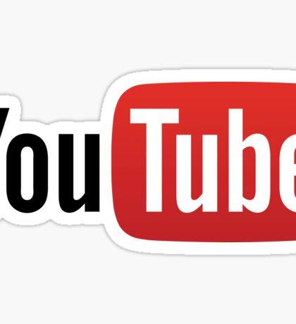 YouTube Full Logo - Red on White Sticker
