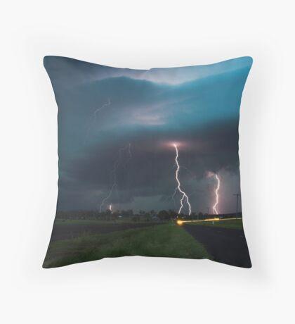 Multiple Lightning strikes Throw Pillow