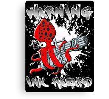 Squid Hunters Ink Hazard Canvas Print