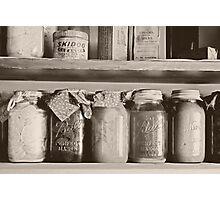 1920's Era Kitchen Food Shelf Photographic Print