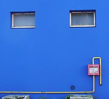 Blue wall by Carol Dumousseau