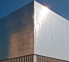 Metal clad building at Zurich's waste incineration power plant by Michael Brewer
