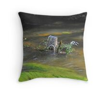 I Must Be Off My Trolley ! Throw Pillow