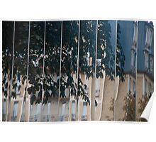 Paris building surface reflection Poster