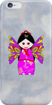 Chinese Doll Fairy iPhone Case by Dennis Melling