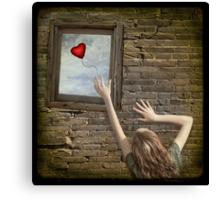 Lonely heart Canvas Print