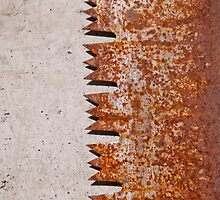 Rusty old saw blade on concrete in the Valle Onsernone in Ticino, Switzerland by Michael Brewer