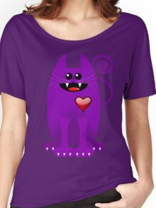 PURPLE CAT Women's Relaxed Fit T-Shirt