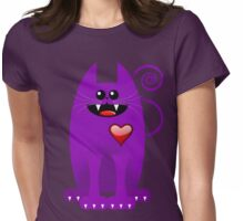 PURPLE CAT Womens Fitted T-Shirt
