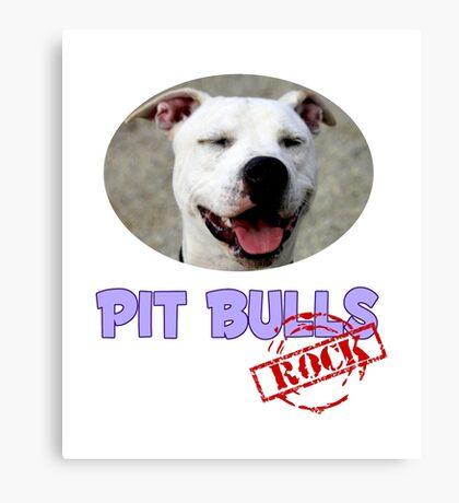 Pit Bulls Rock Canvas Print