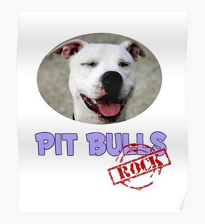 Pit Bulls Rock Poster