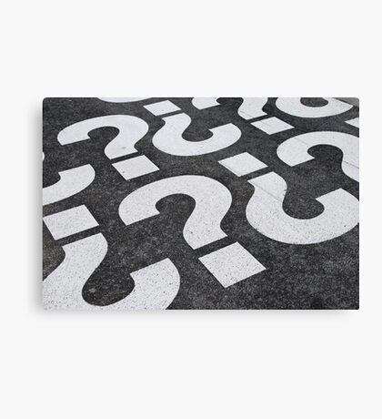 Question mark sign Canvas Print
