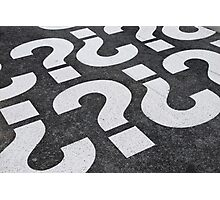 Question mark sign Photographic Print
