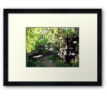 Sunlight In The Garden - Hidden Chateau Framed Print