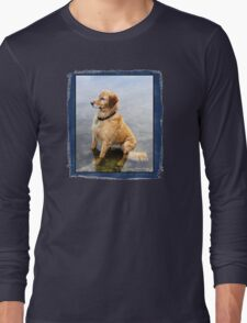 Wet Dog ~ Cooling Off At the Lake Long Sleeve T-Shirt