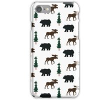Woodland Moose and Black Bear Case iPhone Case/Skin