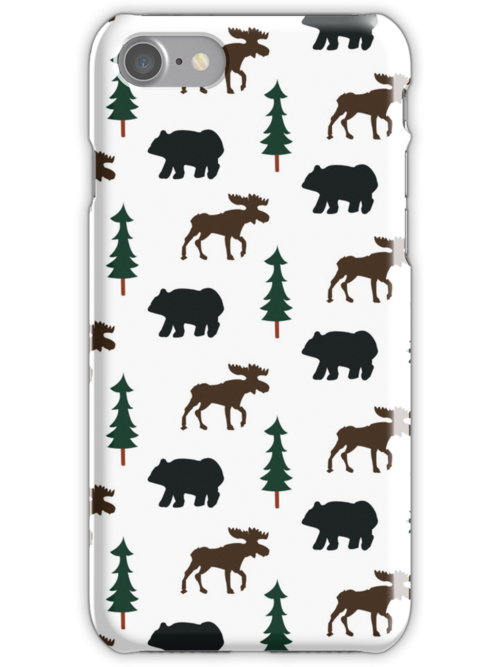 Woodland Moose and Black Bear Case by JessDesigns