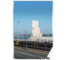 Lisbon cityscape Poster