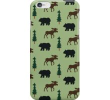 Woodland Moose and Black Bear Case - Green iPhone Case/Skin