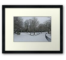 Winter in Waterlow Park Framed Print