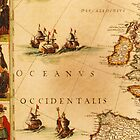 Antique Ocean Map by HumanlineImages