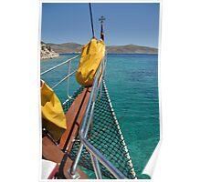 Boat cruising Poster