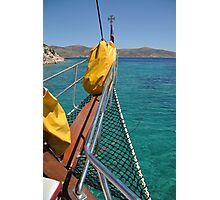 Boat cruising Photographic Print