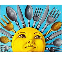 What's for Lunch? CBS Sunday Morning Show Sun Art oil painting Photographic Print