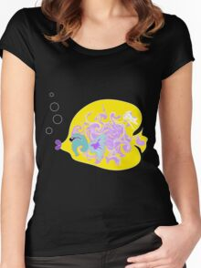 Yellow Fish Women's Fitted Scoop T-Shirt