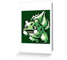 #001 - Bulbasaur Retro 8-Bit  Greeting Card