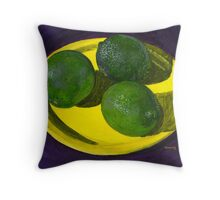 Time For Limes Throw Pillow