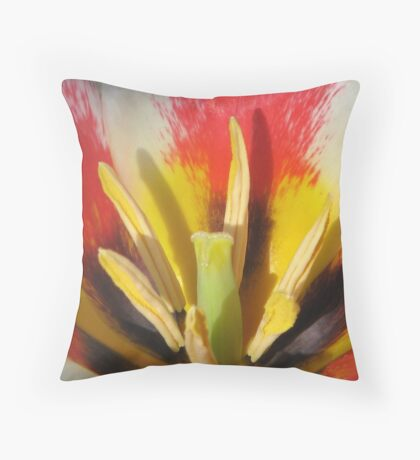 The Heart of a Tulip Throw Pillow