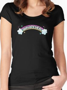 Whatever // Sarcastic Rainbow Pastel Goth Women's Fitted Scoop T-Shirt