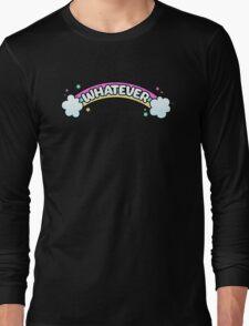 Whatever // Sarcastic Rainbow Pastel Goth Long Sleeve T-Shirt